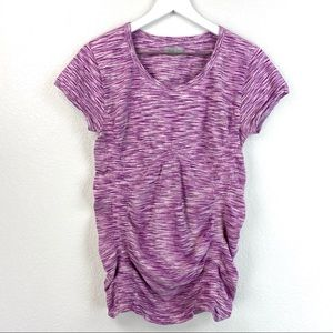 Athlet Ruched Short Sleeve Top Size Large